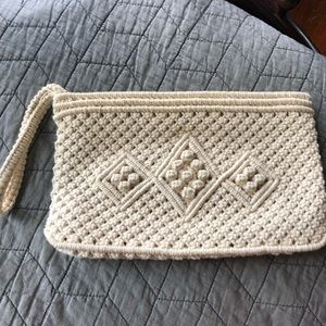 Handbags - Macramé boho wristlet